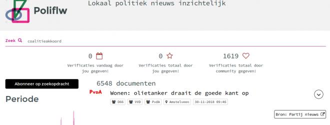 Screenshot van poliflw.nl