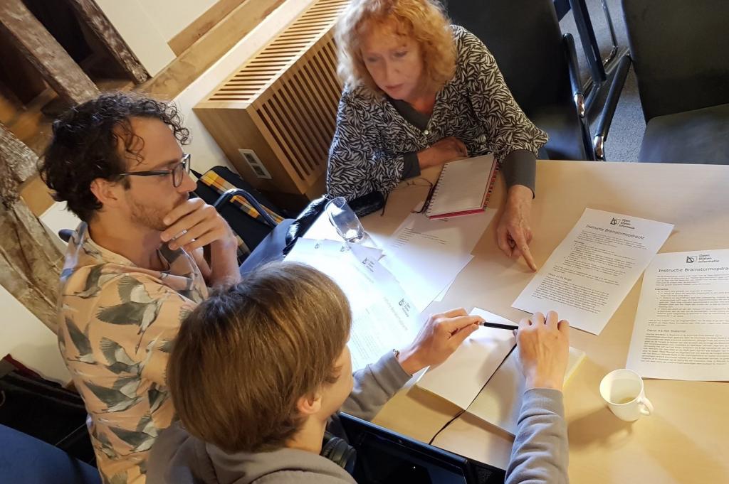 Deelnemers aan brainstorm