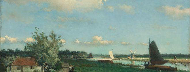 Schilderij van oud hollands landschap