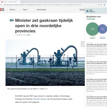Concept art van 'Voordat het nieuws was' website
